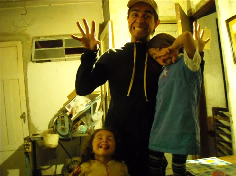 Ivan with the kids