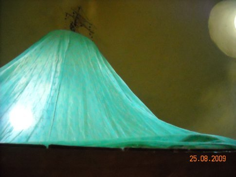 Much needed mozzie net over the bed on the top floor