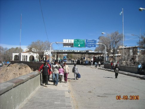 entry into Argentina from Bolivia