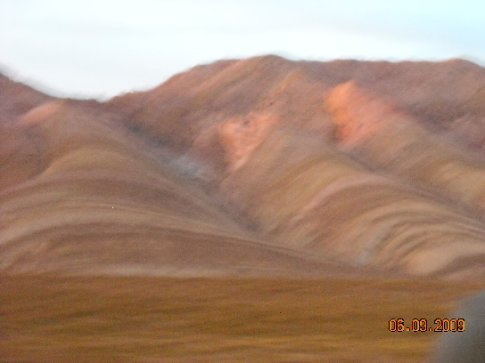 getting dark so hard for the camera to focus but the land is striped
