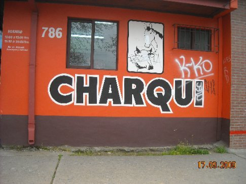 Out to buy Charqui (jerky) made from beef and horse meat