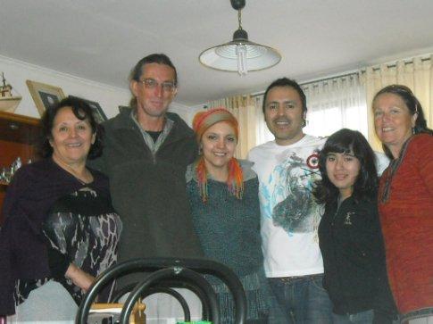 Christians Mum, Kent, Pamela, Christiàn, Francesca, Carol