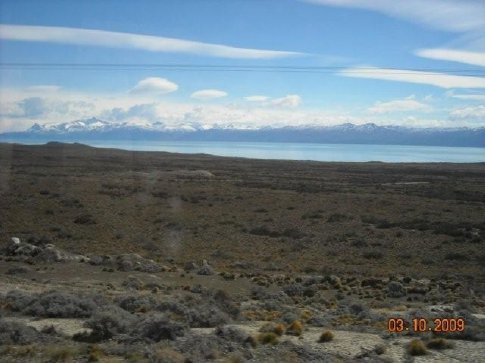 Lago Argentino upon which shore lies the town of El Calafate