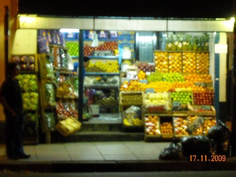 the fruit and vege shops always put on a fine display