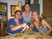 Fabiana, our wonderful host, Carol and Anna the student from Norway: by nomad_kiwis, Views[283]