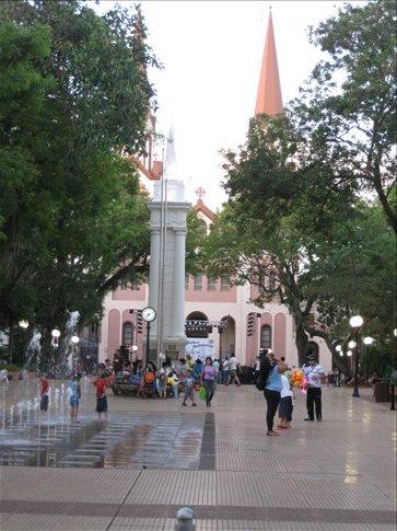 the main square in Posadas