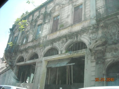 the facade has been kept, ready for restoration