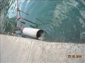 this gas tank is leaking so they threw it in the harbour: by nomad_kiwis, Views[303]