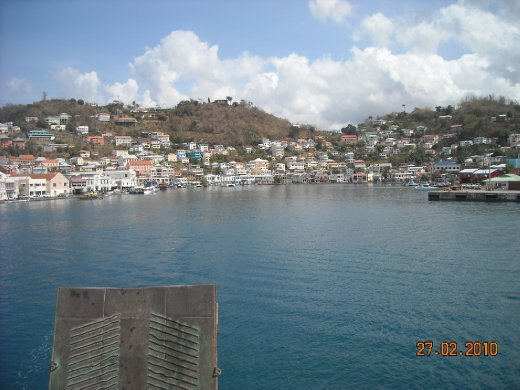 view of the harbour as we left Grenada