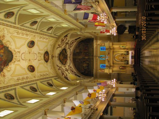 Inside the Saint Louis Cathedral which adorns Jackson Square