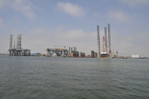 Oil rigs in for repair and upgrades