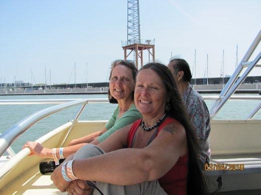 Dawn and Carol enjoying the boat ride