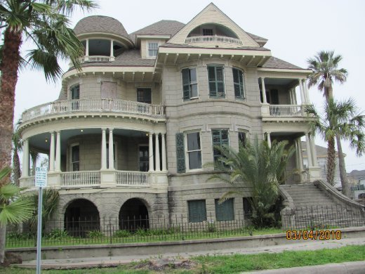 Some of the beautiful old huge homes in Galveston