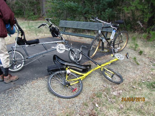 the bikes, recumbents are really comfy to ride
