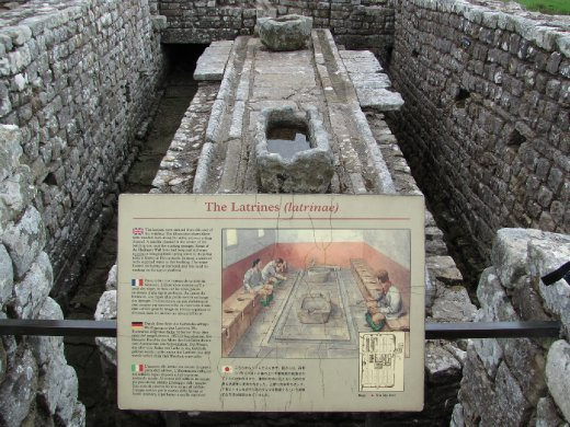 Housesteads Roman Fort communal latrine