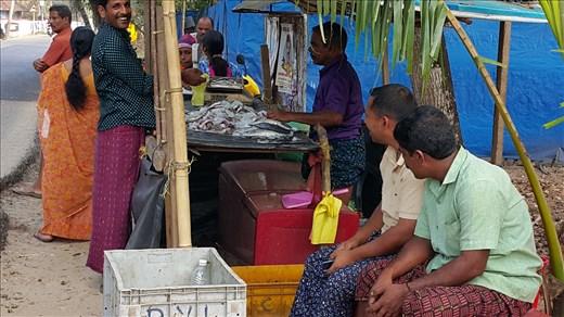 street fish seller