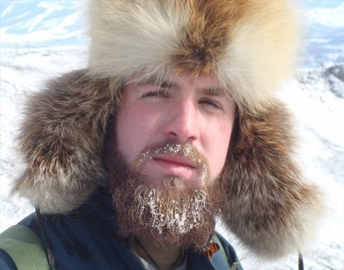 This is me hiking in Telredj National Park, Mongolia. It was about -25C outside.