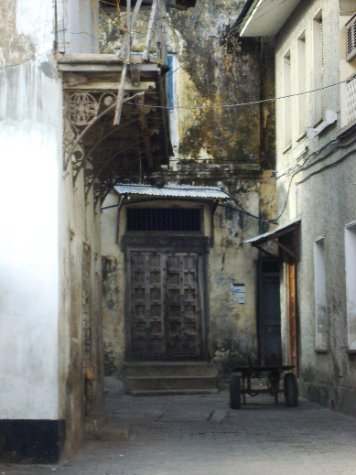 coral buildings and carved doors: Stonetown Zanzibar