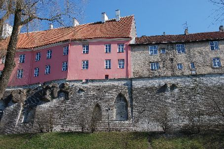 Tallinn old town - the wall of the castle