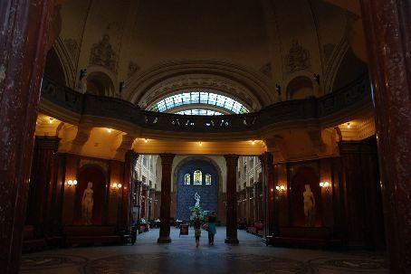 Inside the gorgeous Gellert baths.