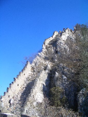 The Great Wall - the first tricky section of the wall that we walked, a closer look.