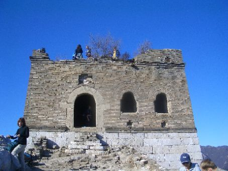 The Great Wall - one of the towers where we stopped for a break.