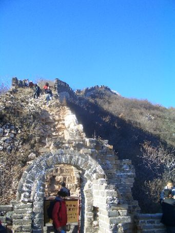 The Great Wall - looking back at the end of the unrestored wall.