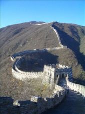 The Great Wall - Mutianyu section of the wall where it has been restored.: by nomadnorrie, Views[334]