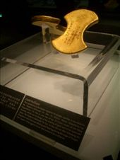 Ming dynasty gold bullion in the Hubei province museum.: by nomadnorrie, Views[318]