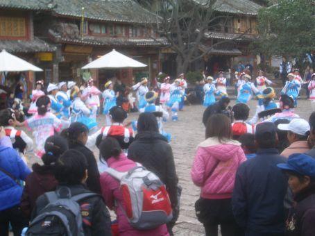 Dancing in Lijiang main square