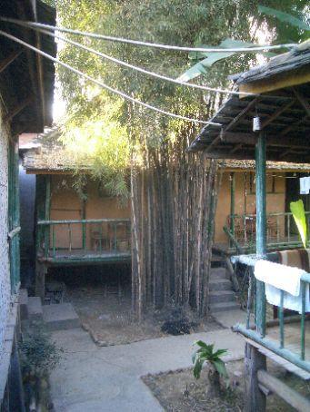 The backpackers bamboo huts in Jinghong