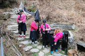 The local Dong minority in Longji, the women have tremendously long hair: by nomadnorrie, Views[6615]