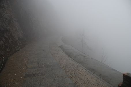 Longji rice terraces, when visibility is really bad