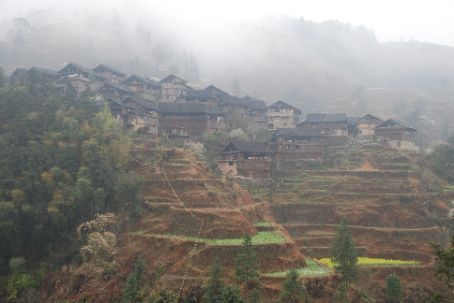 A village near to Zhaoxing in the hills, called Jilun