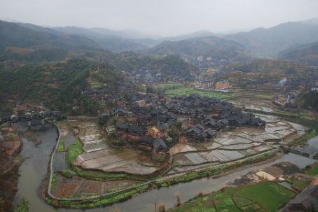 Sanjiang viewed from the opposite hillside