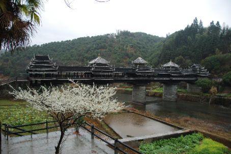 The minority bridge in Sanjiang