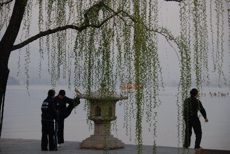 Hangzhou's west lake edge