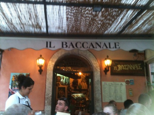 Favourite restaurant in Taoramina