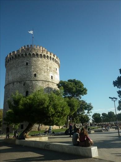 La única torre que queda de la gran murralla de Tesaloniki