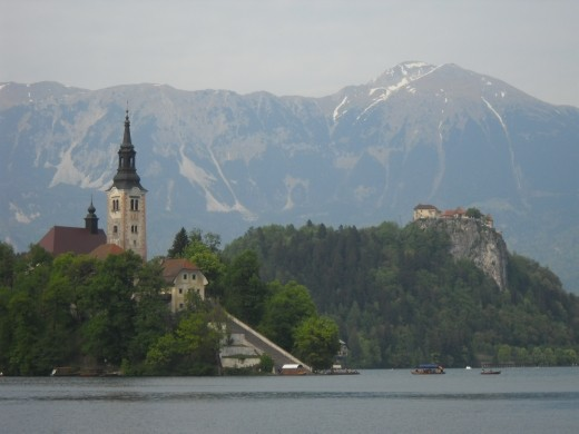 The couple -church and castle- make up Slovenia's top romantic spot.