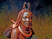 Close up Women Himba inside hat in Opowo Namibia: by nunolobito, Views[485]