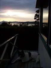 Kiesha enjoying sunset from her front deck lookout: by nwadadoodle, Views[111]