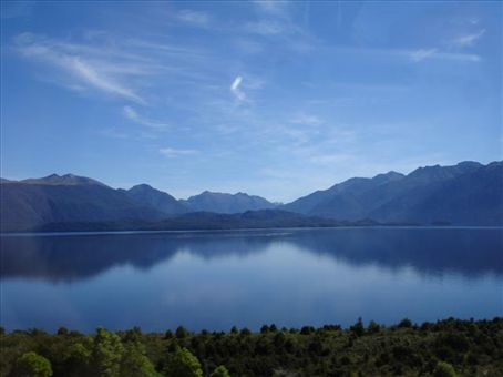 lake te anau, on the way to milford sound