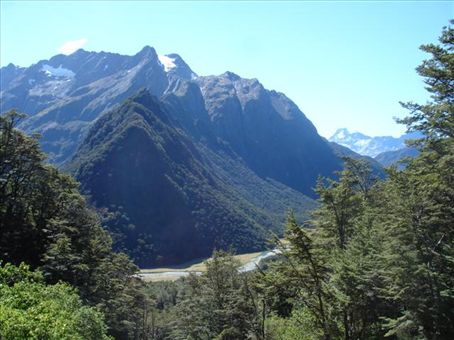 walking along the routeburn track