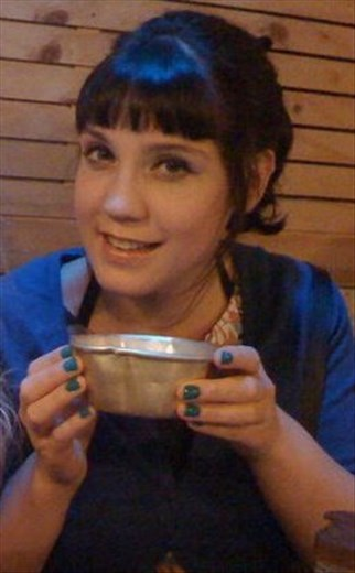 Me drinking some Korean juice