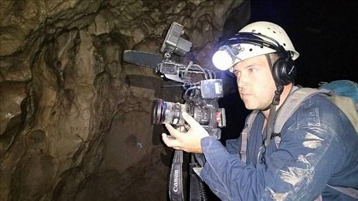 filming in a cavern