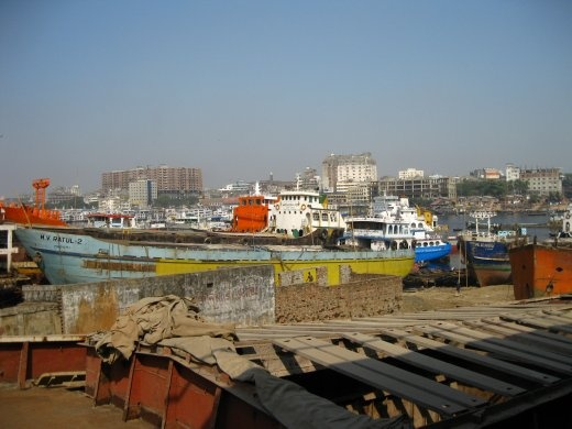 Old Dhaka and the dockyard