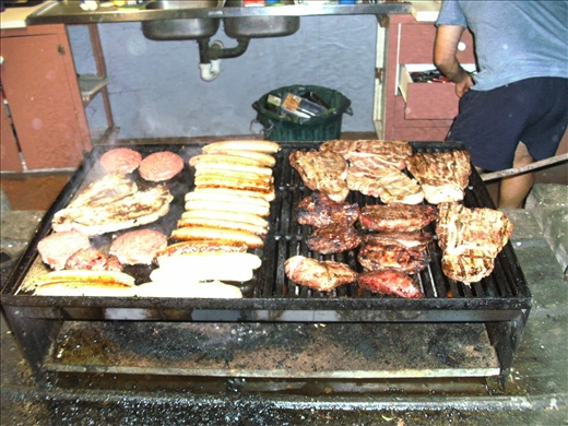 Kangaroo steaks, sausages, burgers! Our amazing BBQ!