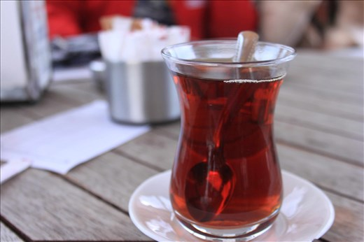 Turkish tea (çay) is a great way to start fresh your morning in Istanbul