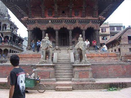 In Patan's Durbar Square